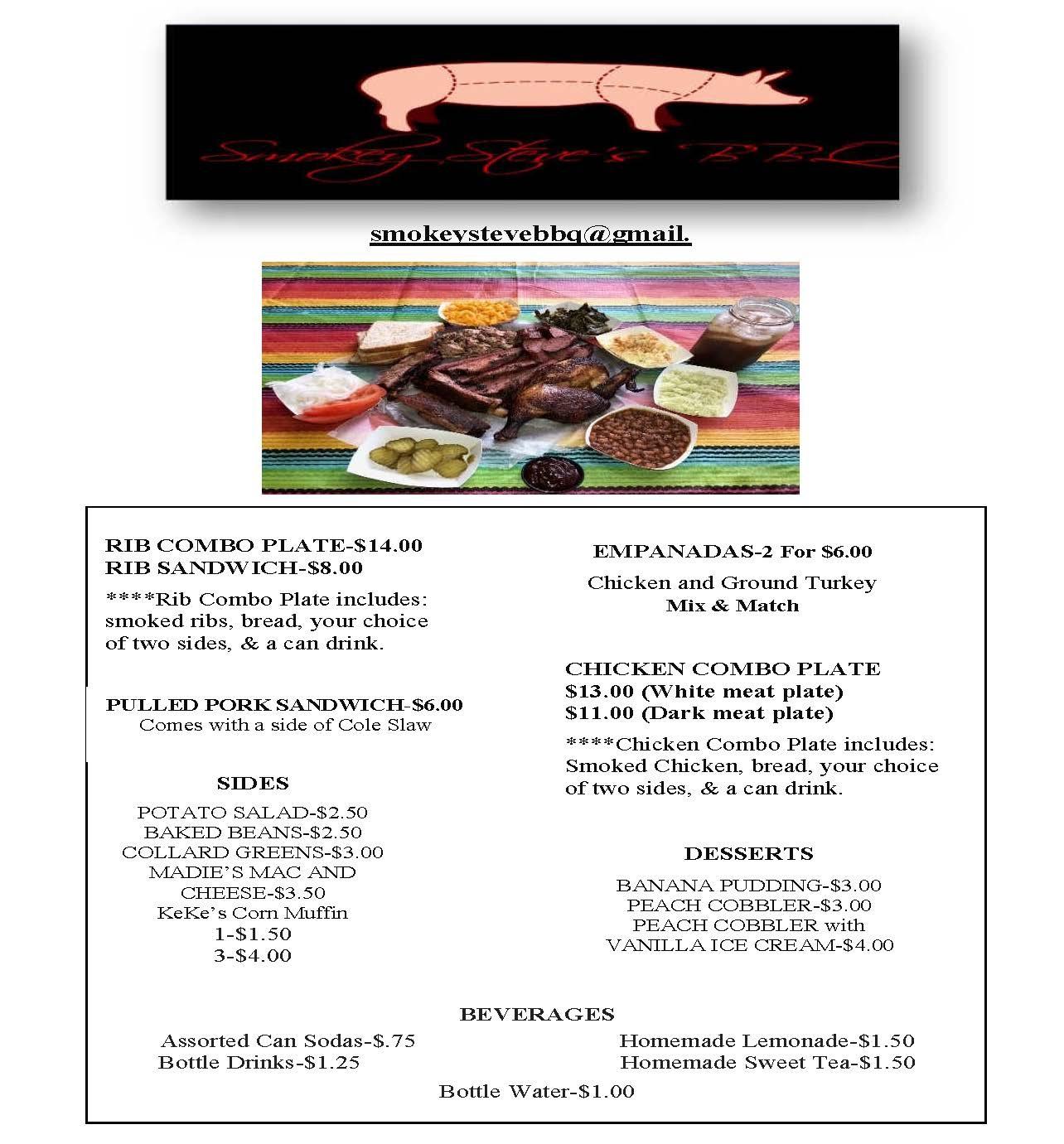 SMOKEY STEVE BBQ POP-UPS 8/3 & 8/10/19 -