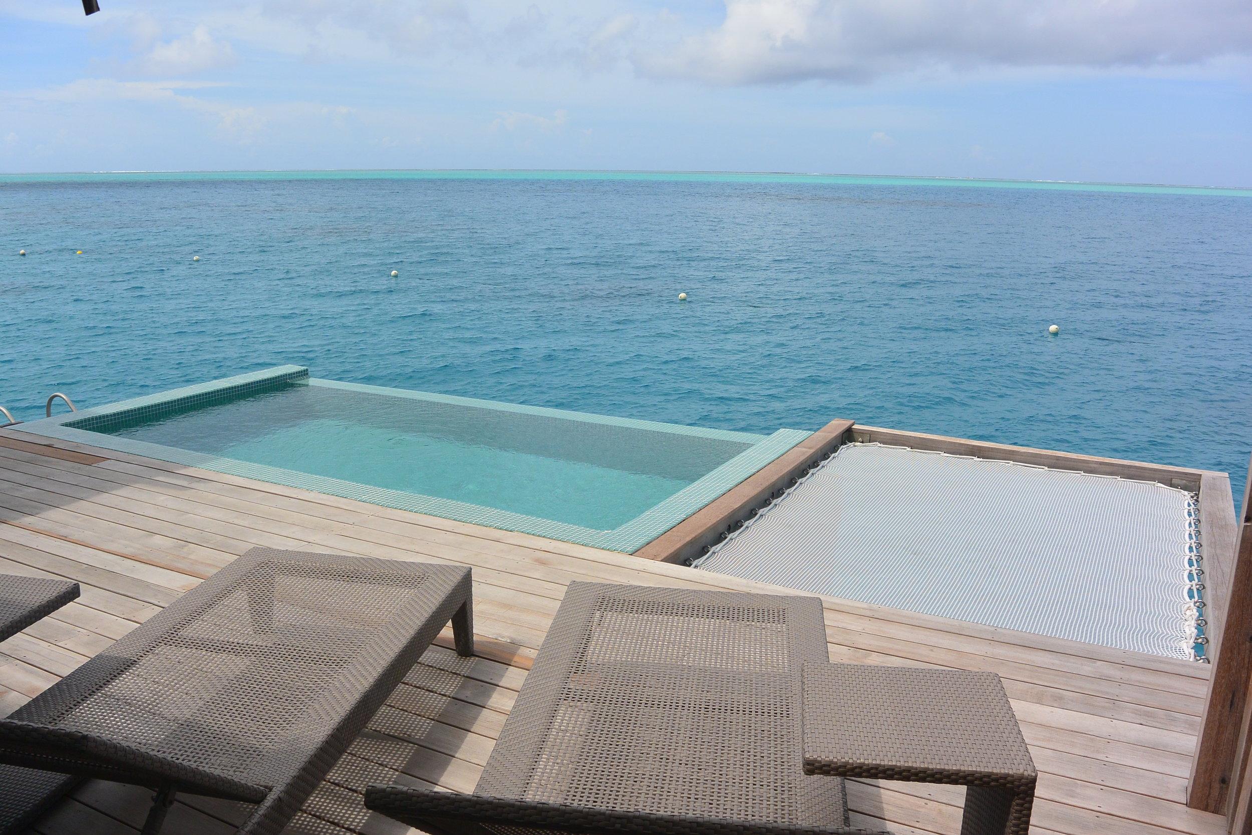 Overwater Pool Villa Deck with Catamaran Nets