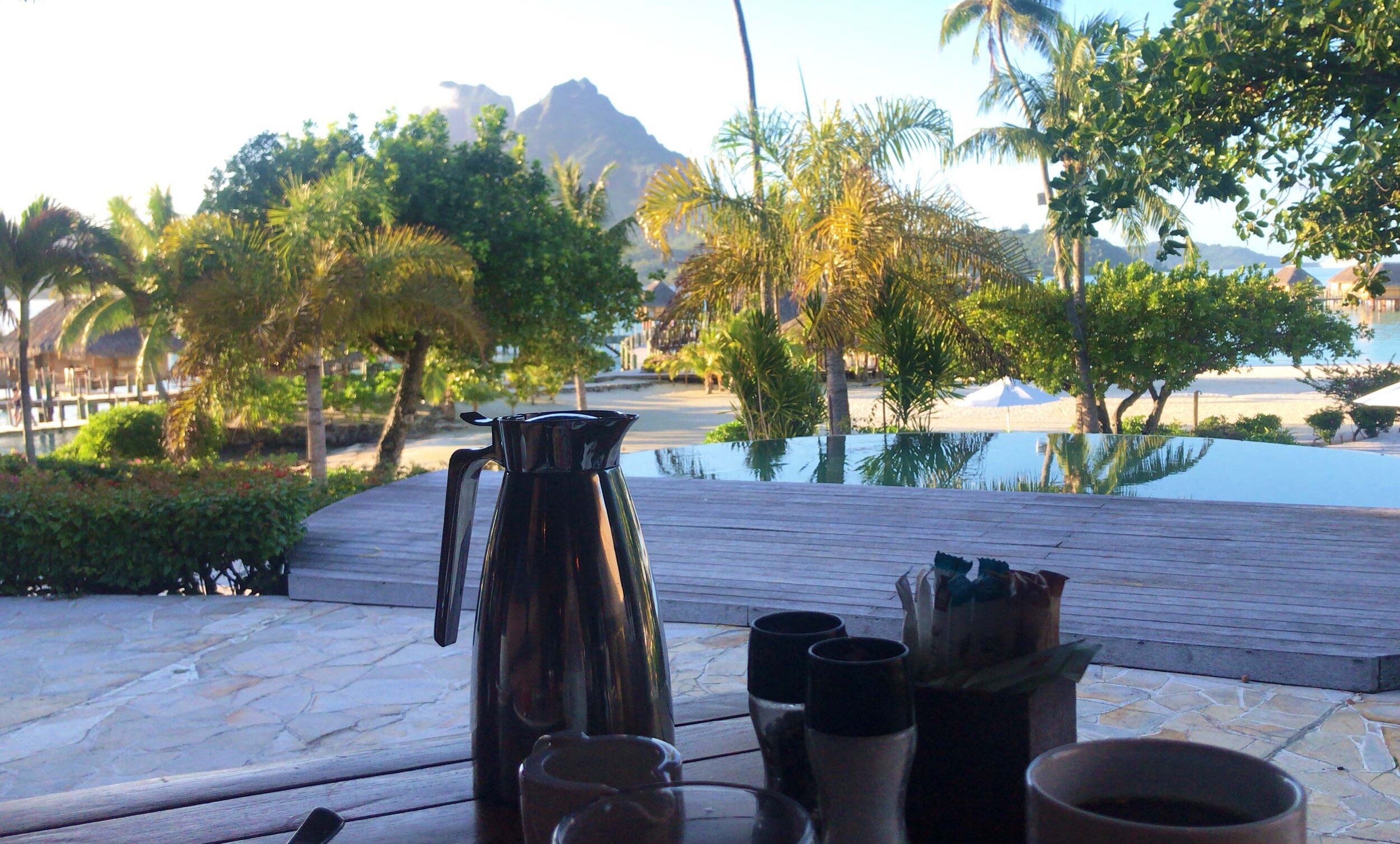 Breakfast view from the  Bora Bora Pearl Beach Resort & Spa