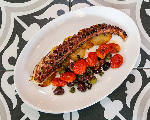 One bite of this perfectly charred polpo and you will be in love! Start dinner on the right foot with our Octopus Baci. 💋
