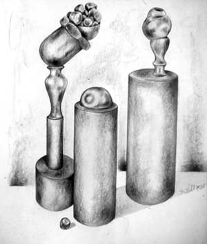 """""""Three Sculptures"""" by Maggie Moore"""