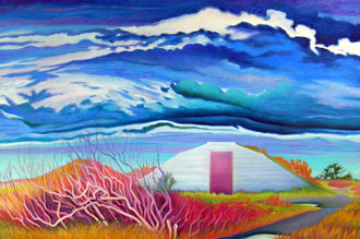 """""""Samoa Bunker"""" by Ingrid Nickelsen was donated by her step-daughter Laura Mullen and adopted by Betty Osborne"""