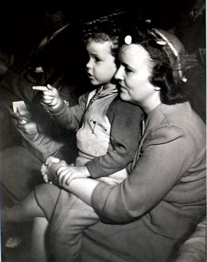 """""""Mother and Child at Circus"""" by Weegee, Donated by Harry Blumenthal"""