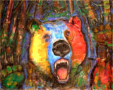 """""""Angry Bear Dream"""" by Harry Bluementhal  Awarded Honorable Mention"""
