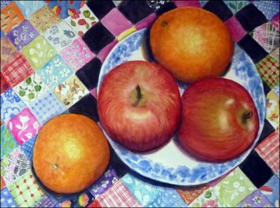 Carol Lauer-fruit on an antique quilt.jpg