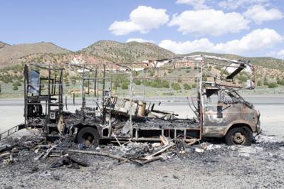 Joseph Wilhelm-burnt motorhome, susanville, ca 2006.jpg