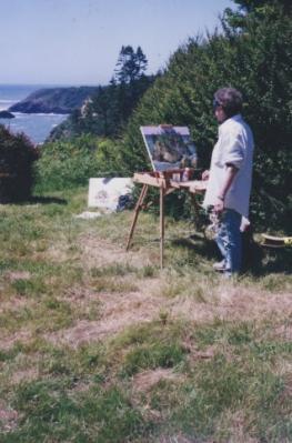 Julia Bednar painting and ocean scene.jpg