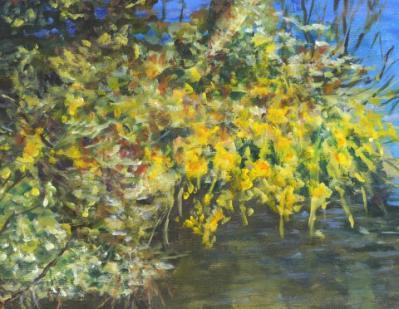 Julia Bednar-yellow bloom at the lake.jpg