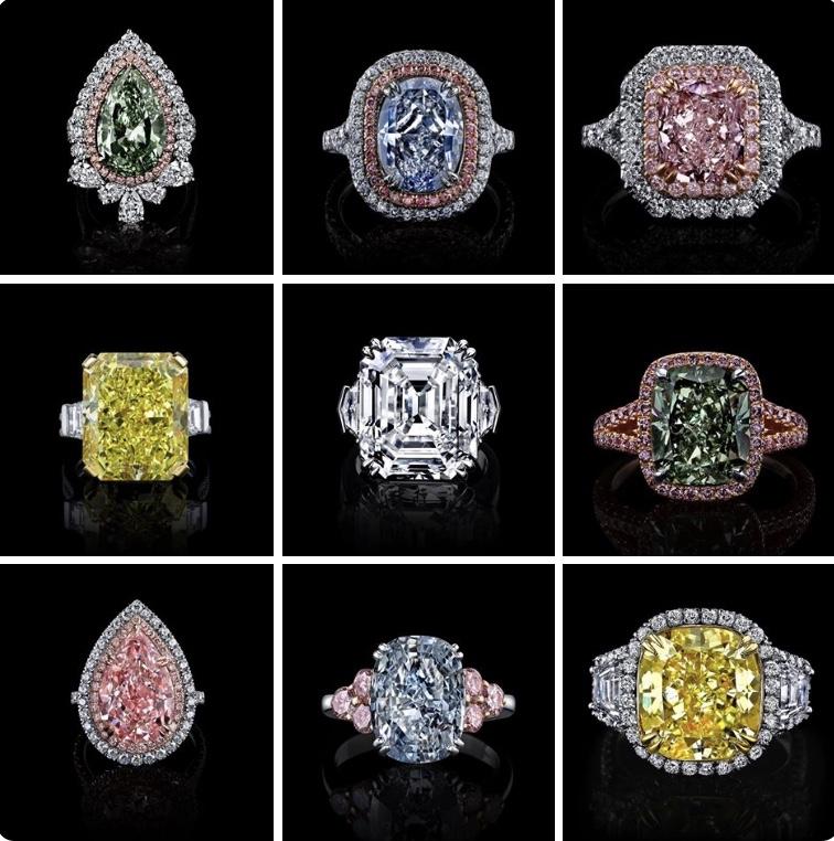 Raiman Rocks Fancy Color Diamonds Rings