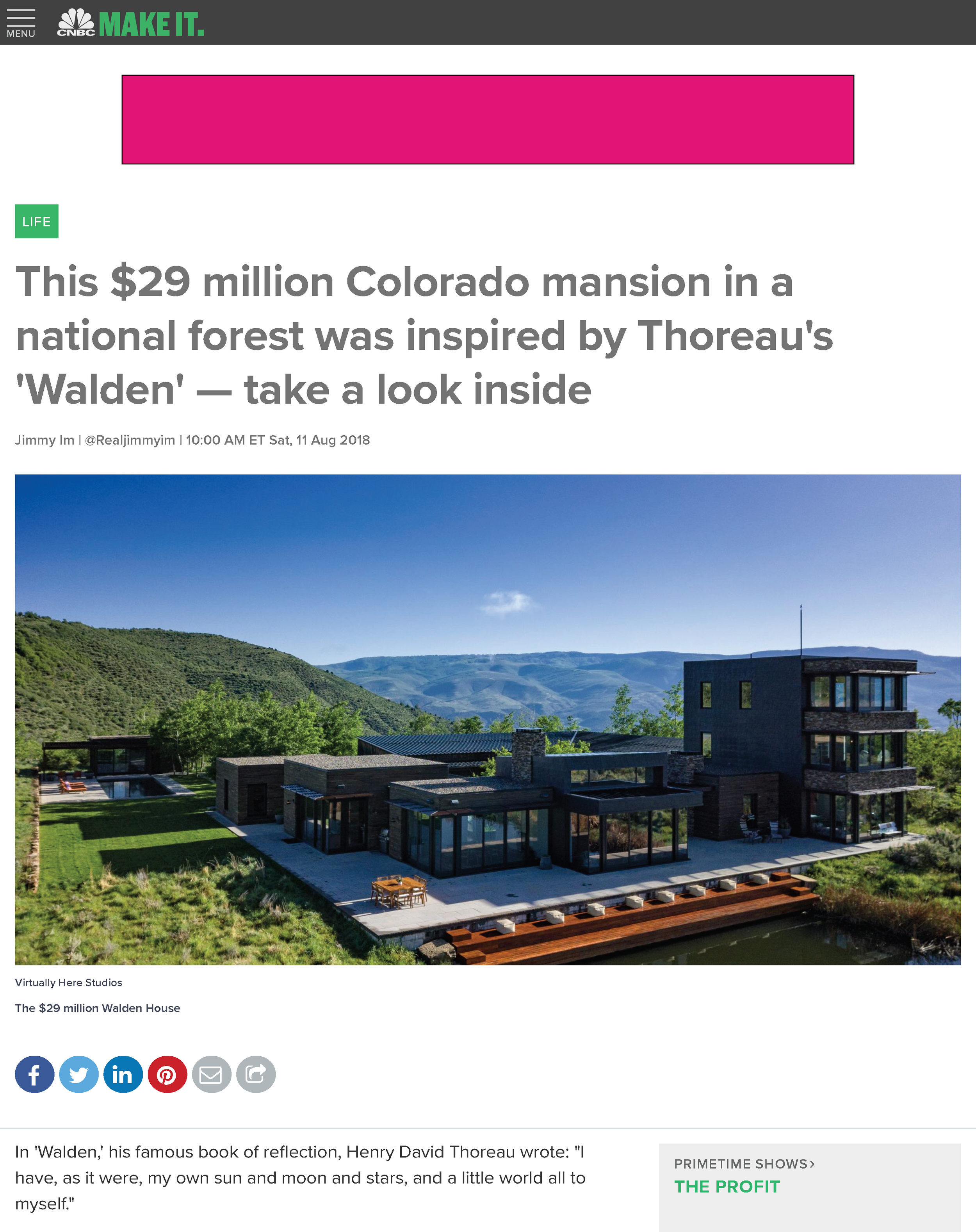 Iconic Homes_This $29 Million Colorado Mansion In A National Forest Was Inspired By Thoreau's 'Walden' — Take A Look Inside