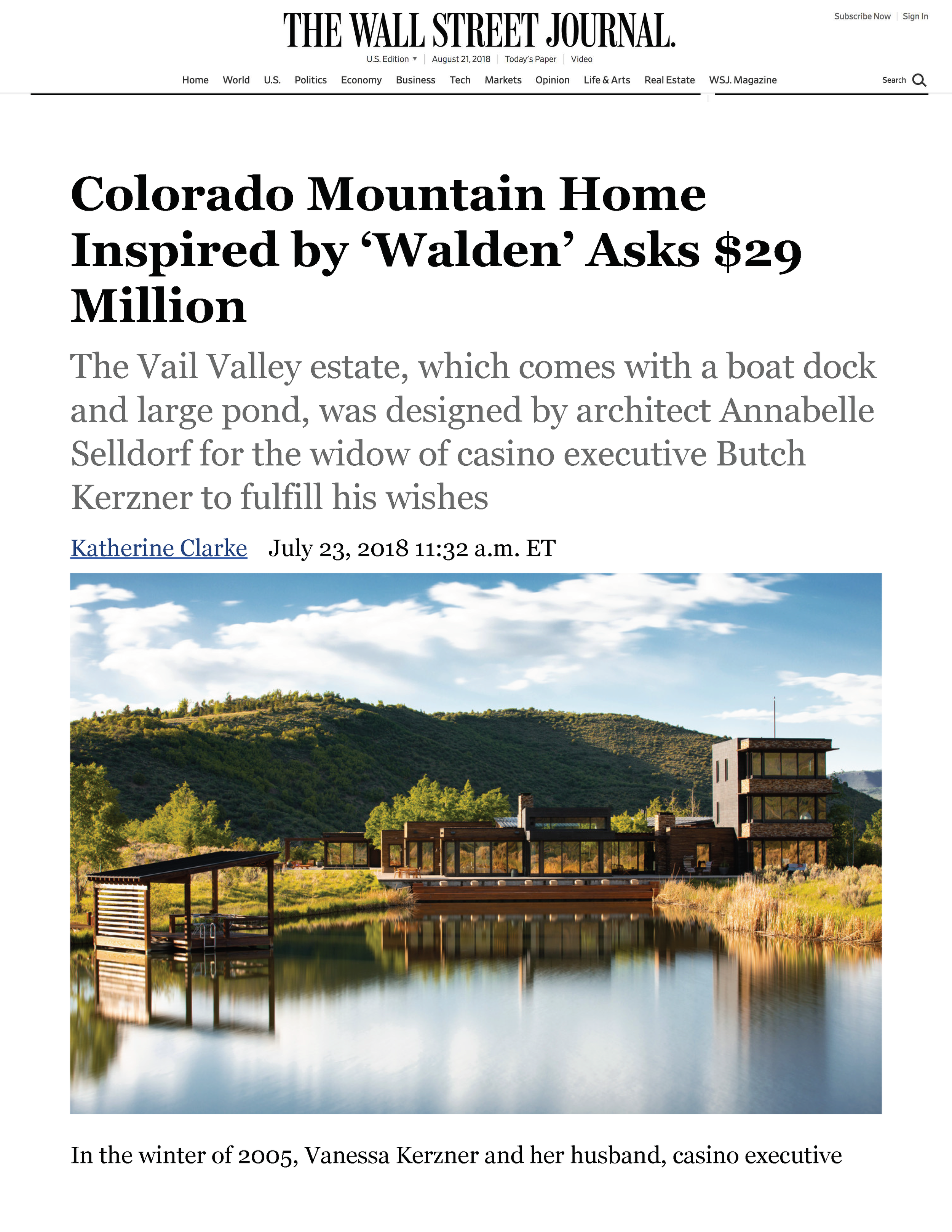 Iconic Homes_Colorado Mountain Home Inspired by 'Walden' Asks $29 Million