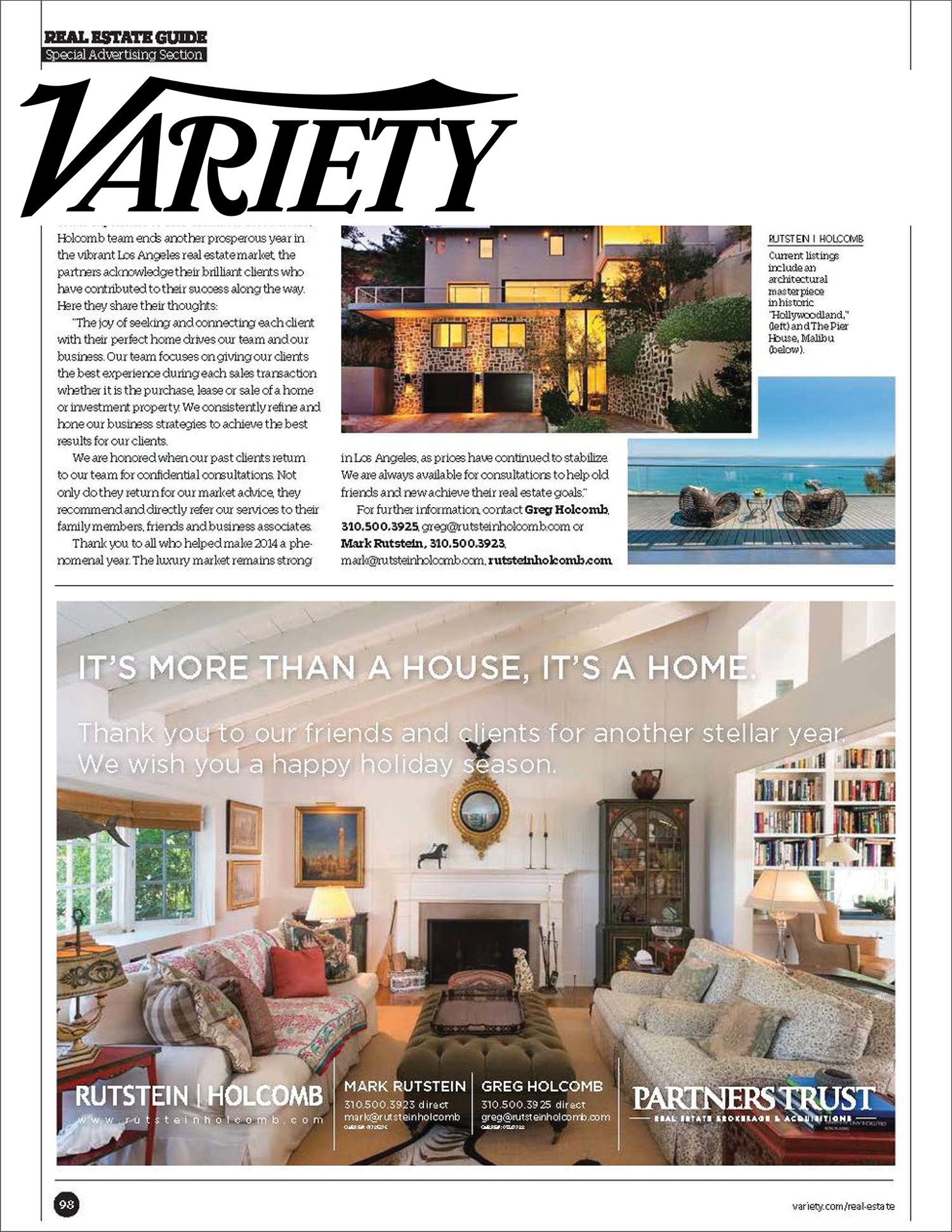 Iconic Homes_Real Estate Guide: Rutstein | Holcomb's Year in Review