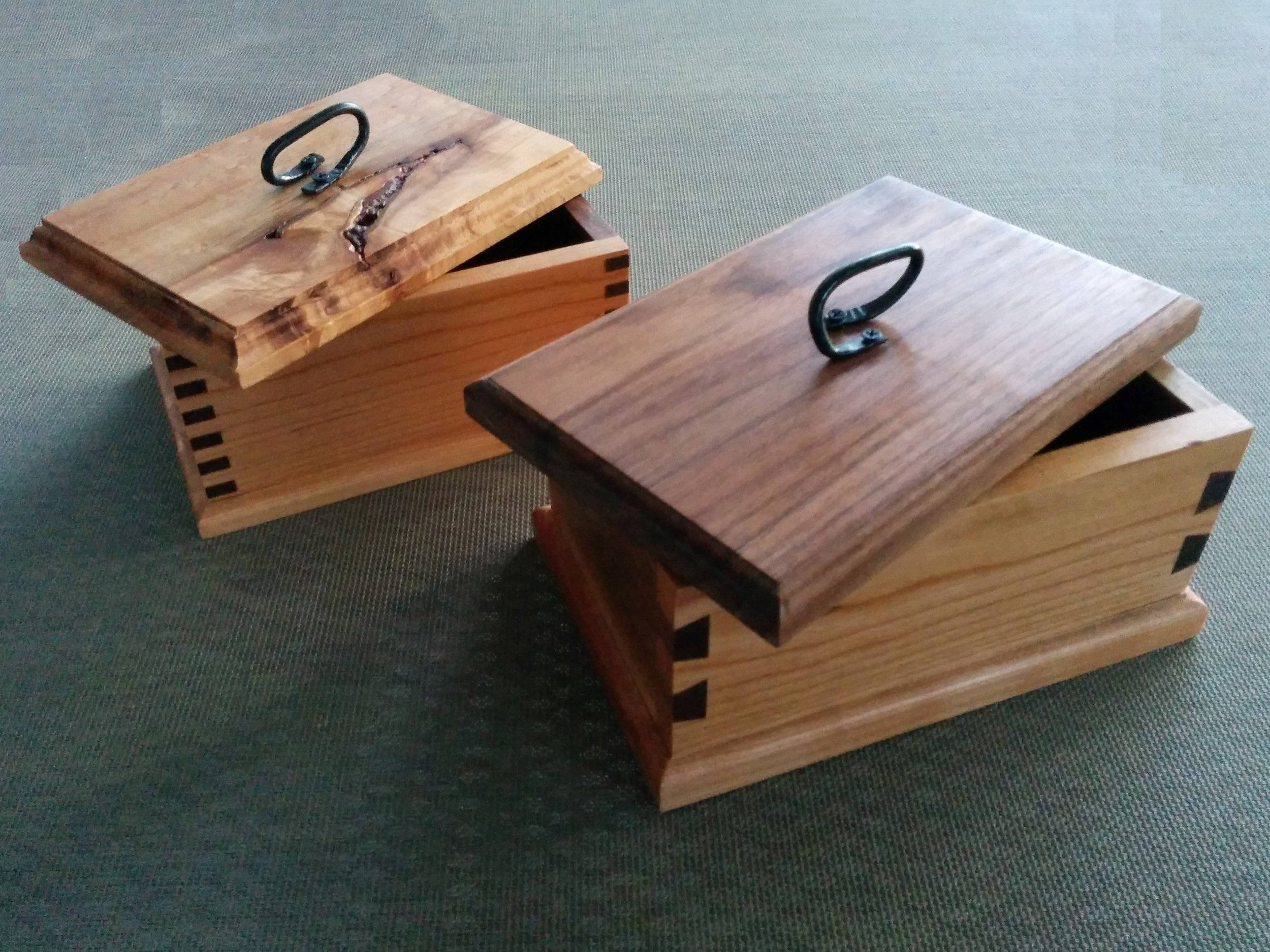 Cherry, Sugar Maple and Walnut Boxes