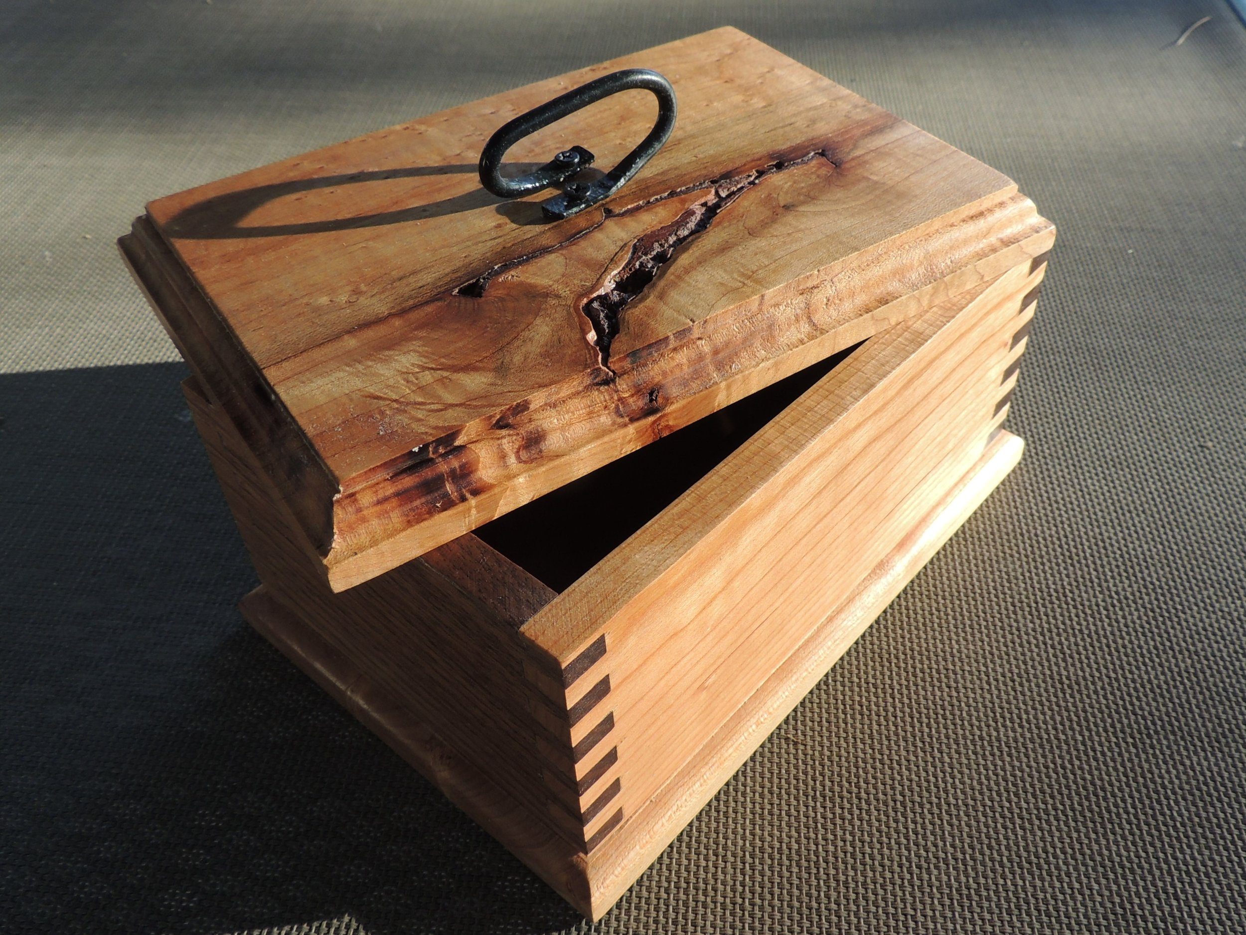 Cherry and Walnut Box