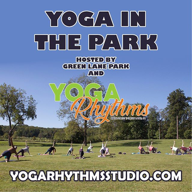 Big thank you to everyone who turned out for Yoga in the Park this weekend! We had so much fun and can't wait to continue exploring this partnership with Green Lane Park! Couldn't make it? Let's connect at the @greenlanenaturals 1st birthday / Yoga Rhythms grand opening celebration on Saturday September 21st starting at 1pm! —  #yogainnature #yogaflow #yoga #phillyyoga #outdooryoga #phillyyogateacher #phillyyogateachers #greenlanepark #schwenksville #perkiomenville #buxmont #wellness #yoga #phillywellness #naturalliving #vegan #yogaeveryday #yogaeverydamnday #yogaeverywhere #yogalife #yogainspiration #namaste