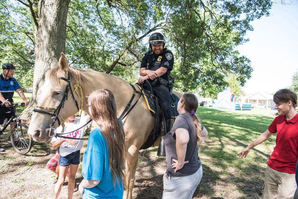 Food Truck Festival at Bosse Field Mounted Police Officer