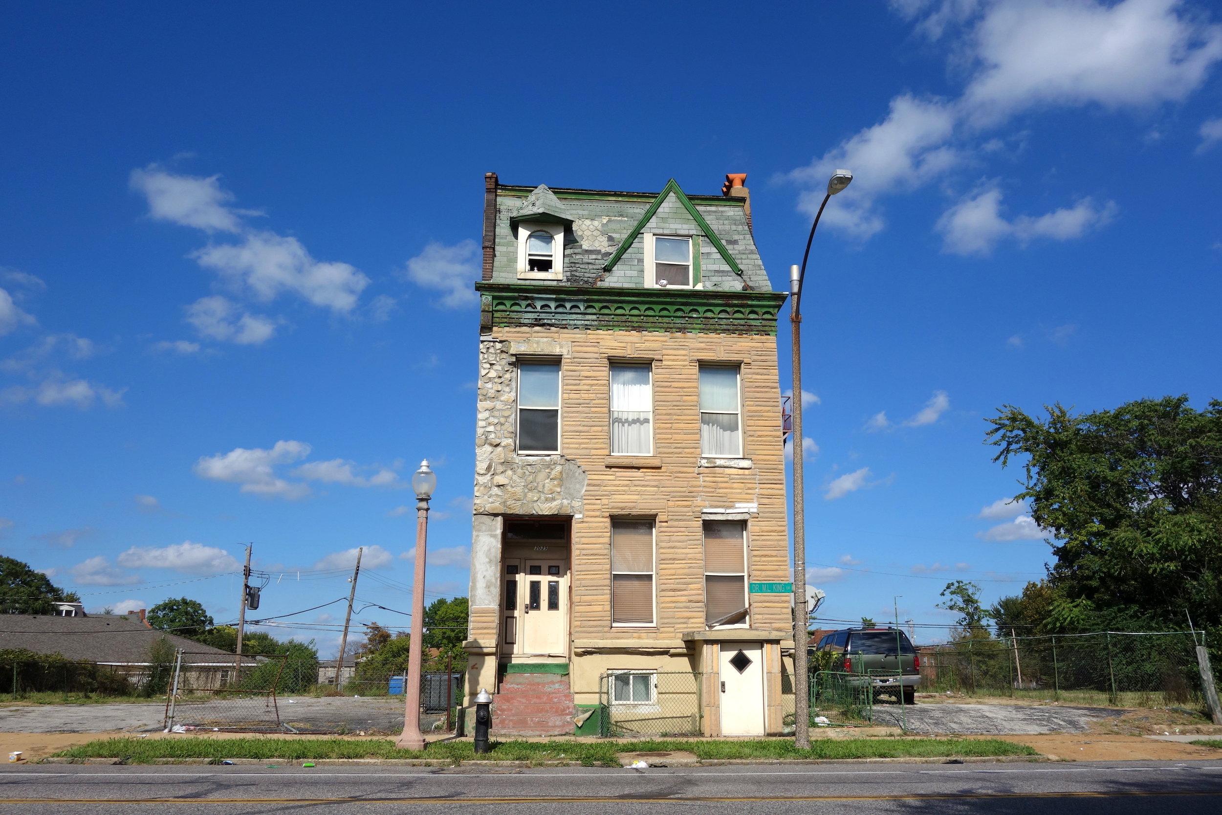 Figure 5. Last house on the block, Delmar Boulevard, St. Louis, 2016. Photograph by Joseph Heathcott.