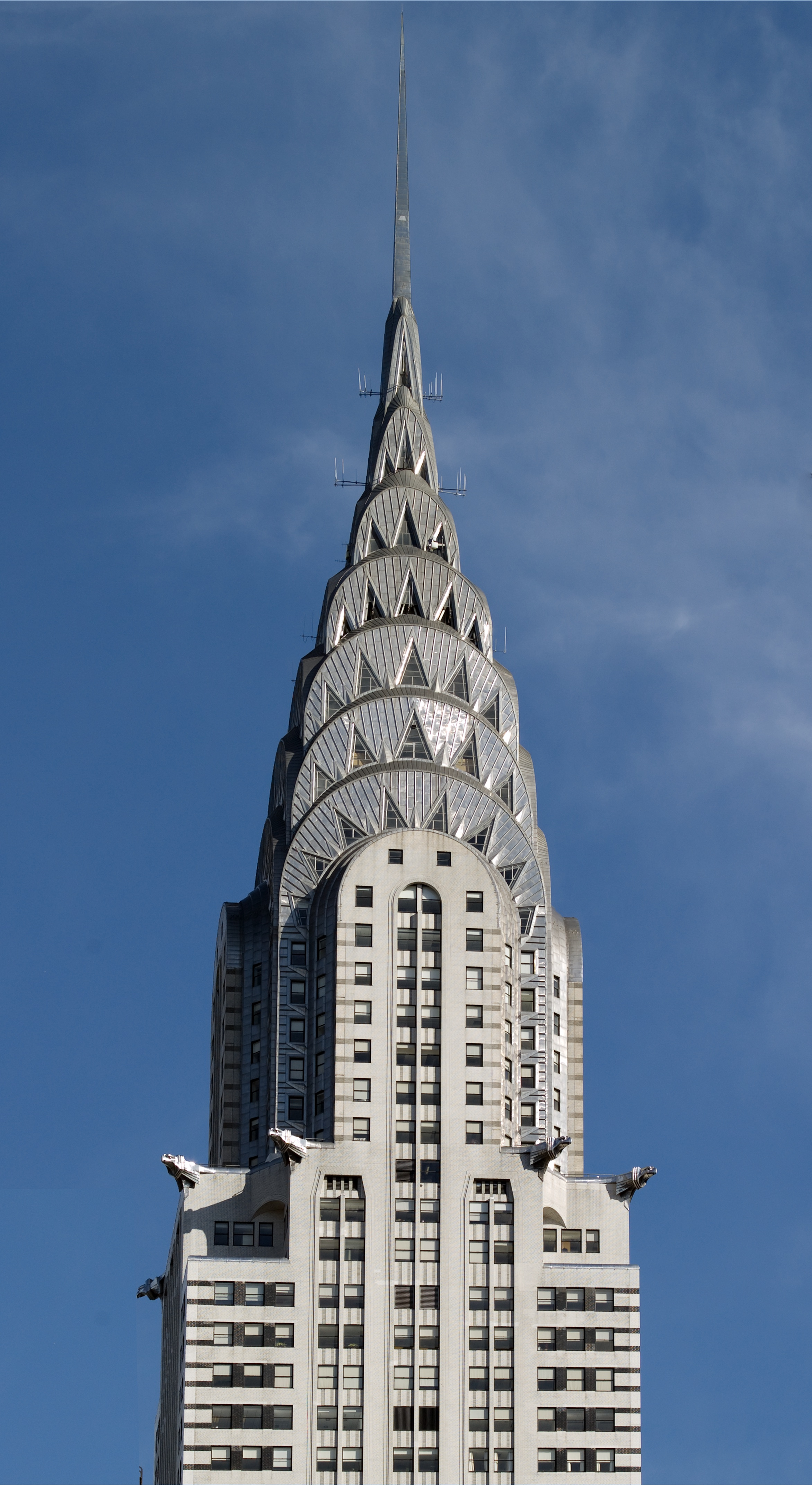 A pinnacle of architecture: the top of the Chrysler Building in New York City. Photograph by Carol M. Highsmith, 2007. From Carol M. Highsmith's America, U.S. Library of Congress, Prints and Photographs Division, LC-DIG-highsm-04444); used with permission.