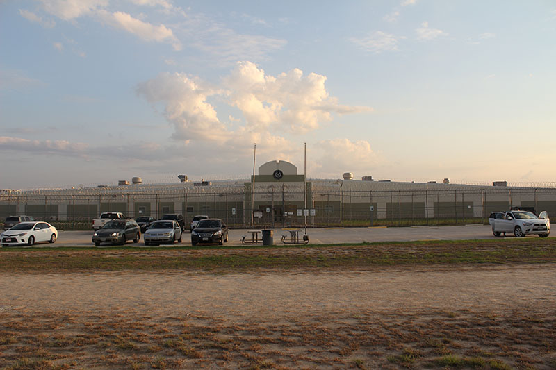 Figure 3. La Salle County Regional Detention Center, Encinal, Texas. Photograph by C.J. Alvarez, July, 2016.