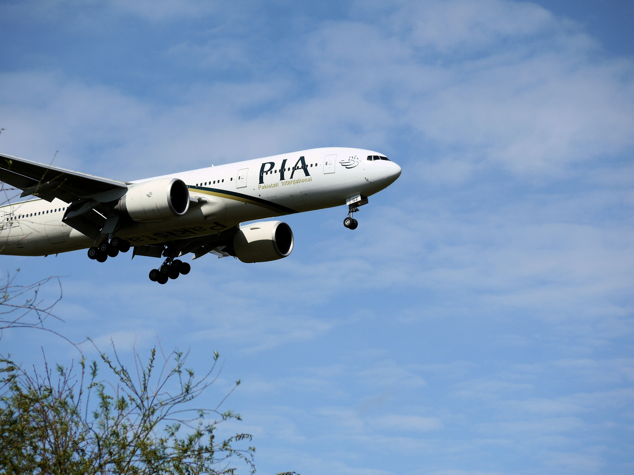 Pakistani International Airways flight landing, Manchester, 2012. Photograph by Smabs Sputzer/Flickr/Creative Commons.