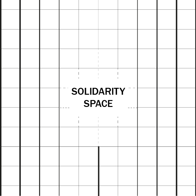 Figure 1. The Solidarity Bloc is an informal, non-institutional space to offer community support and discussion on the #metoo movement in architecture, n.d.. Credit:  The Architecture Lobby .