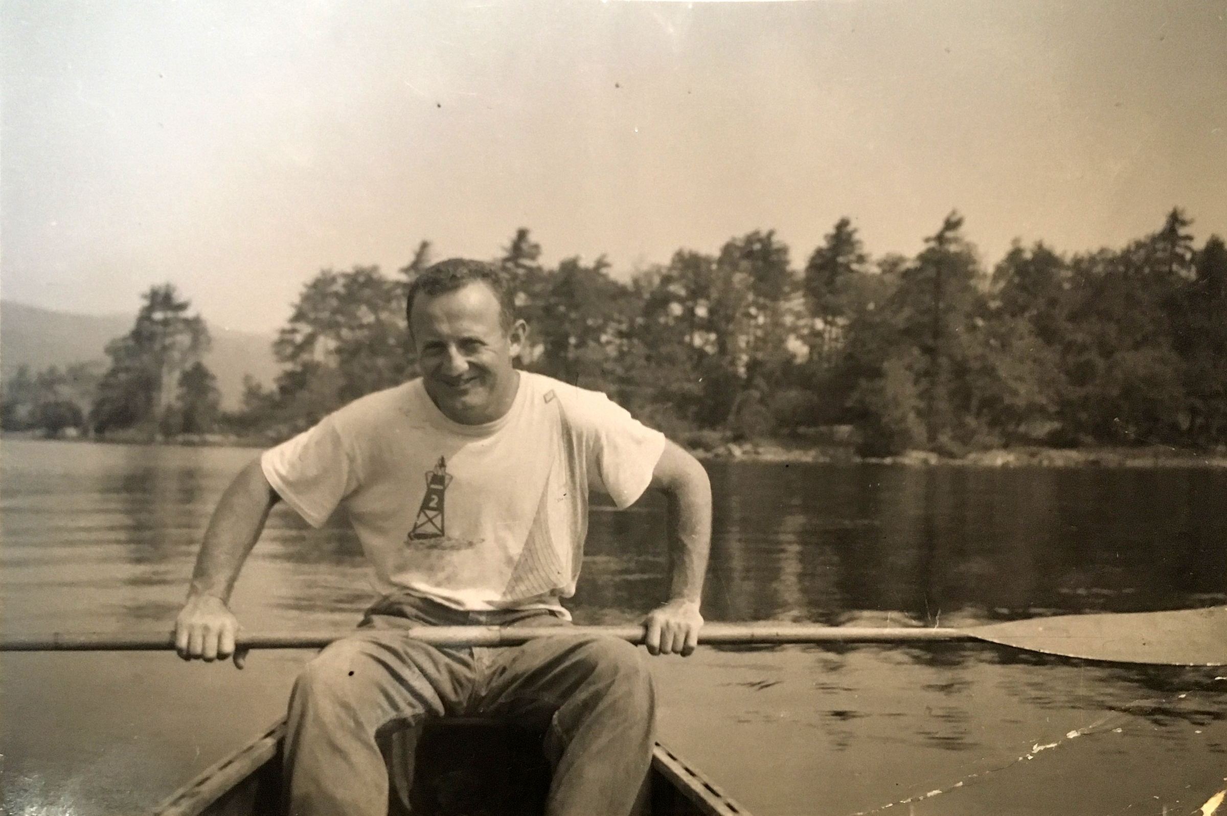 Figure 3. The author's father, Max Snyder, on the water, circa 1955. Collection of Ellen Snyder-Grenier.