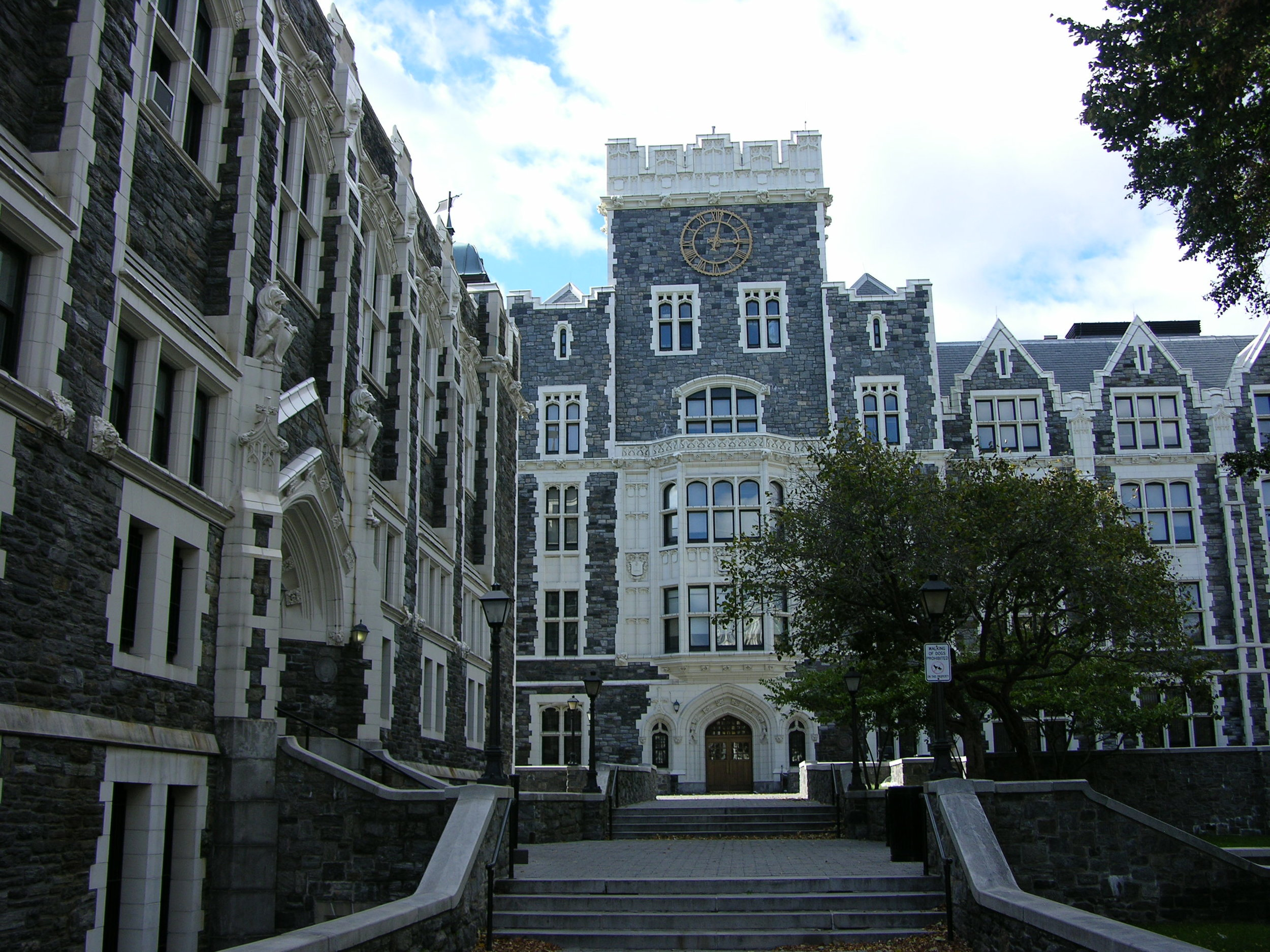 Figure 2. City College of New York, North Campus, looking west. Wingate Hall on the left, Townsend Harris Hall in the background, 2010. Courtesy of  Wikimedia Commons .
