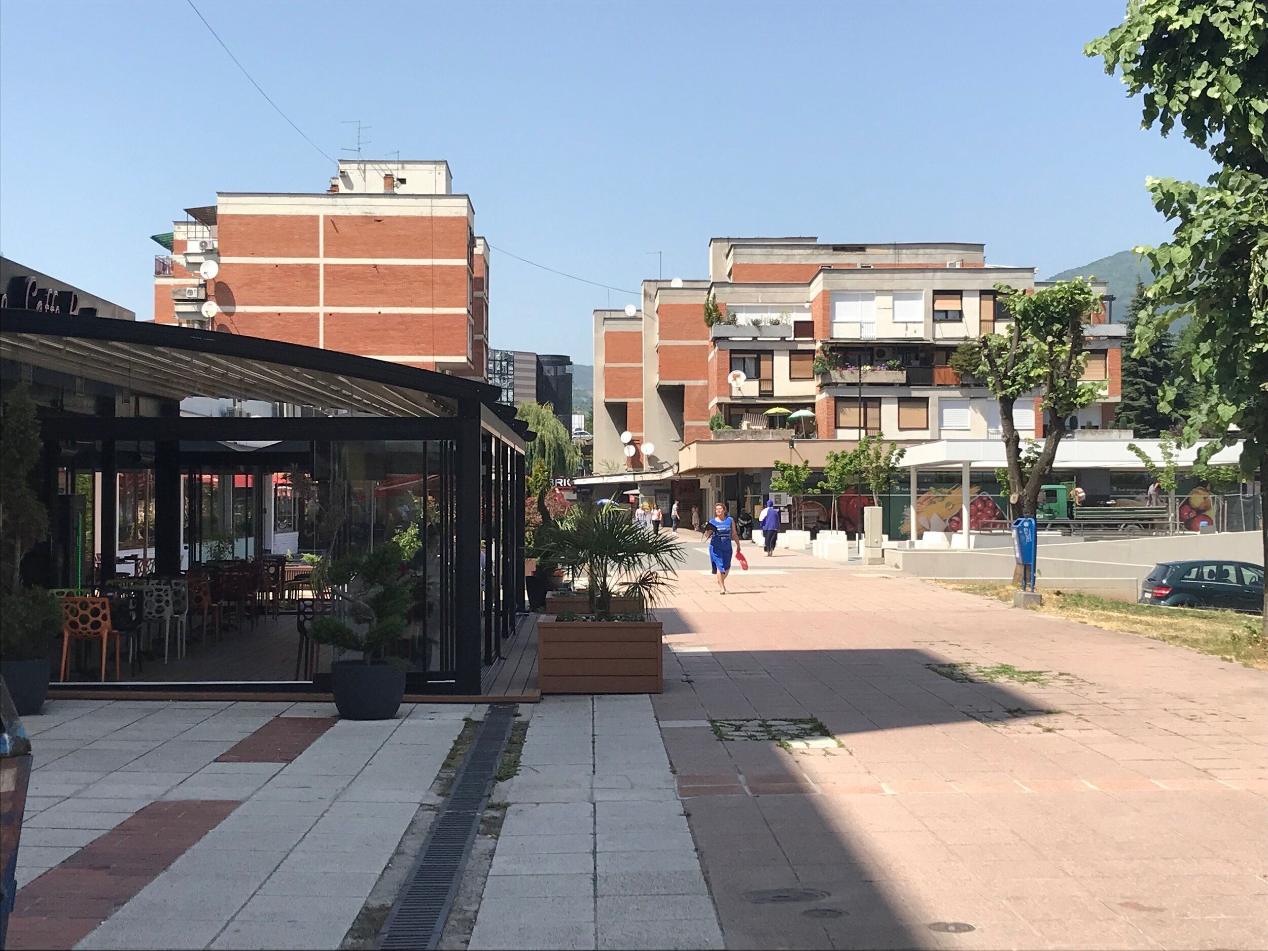 Figure 12. Cigale_03: Pješačka Zona in Cigale is as pedestrian street lined with cafes and shops, 2019. Photograph by Michael R. Allen.