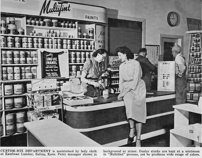 Figure 2. Trade journals worked hard to educate building suppliers about how to handle the postwar influx of home handy-men and –women. Source:  Building Supply News  71, no. 4 (April 1946).