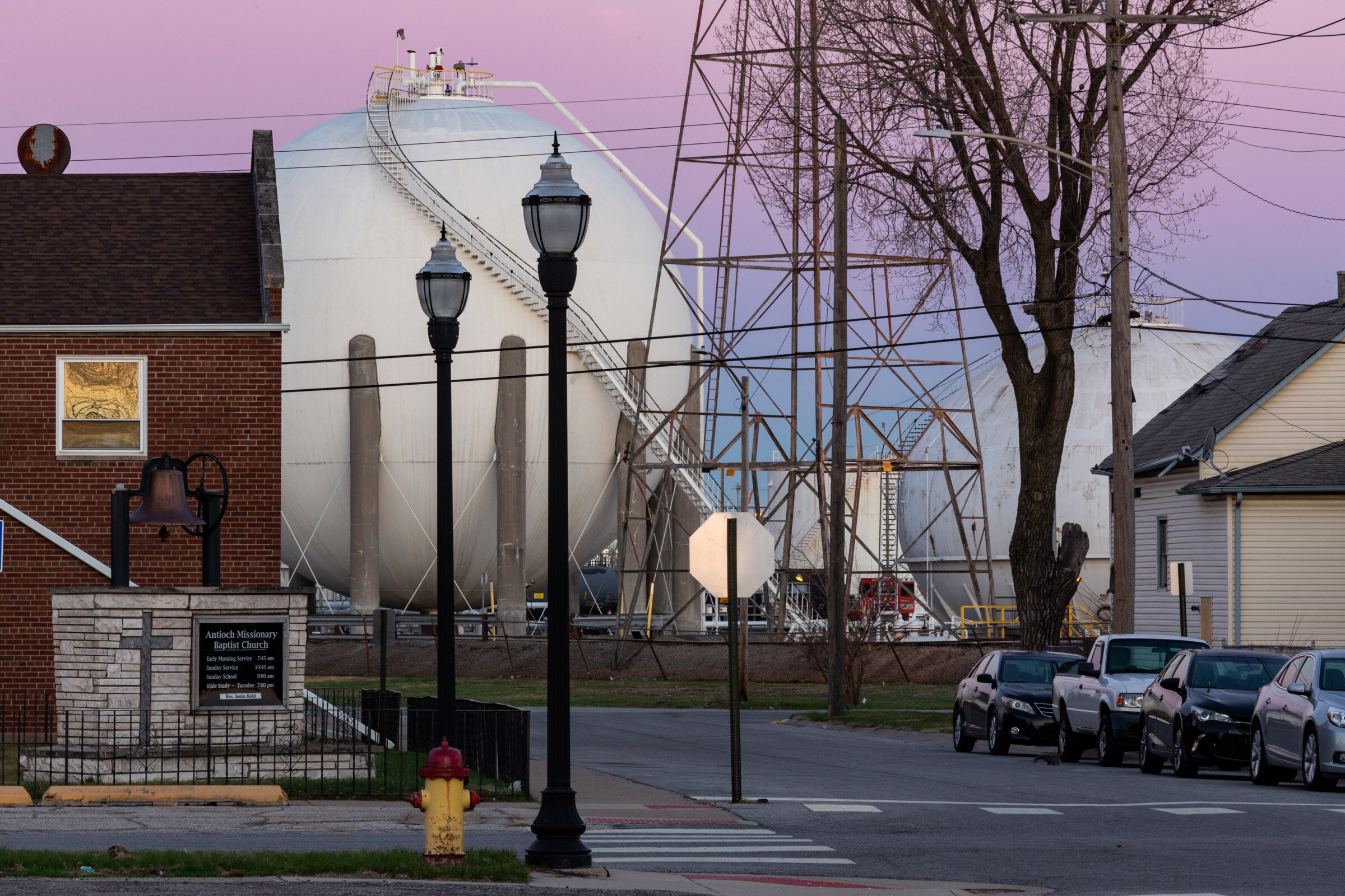 Figure 8. Dawn at Tank Farm in East Chicago, Indiana, Indiana, April 2019. Photograph by Matthew Kaplan.