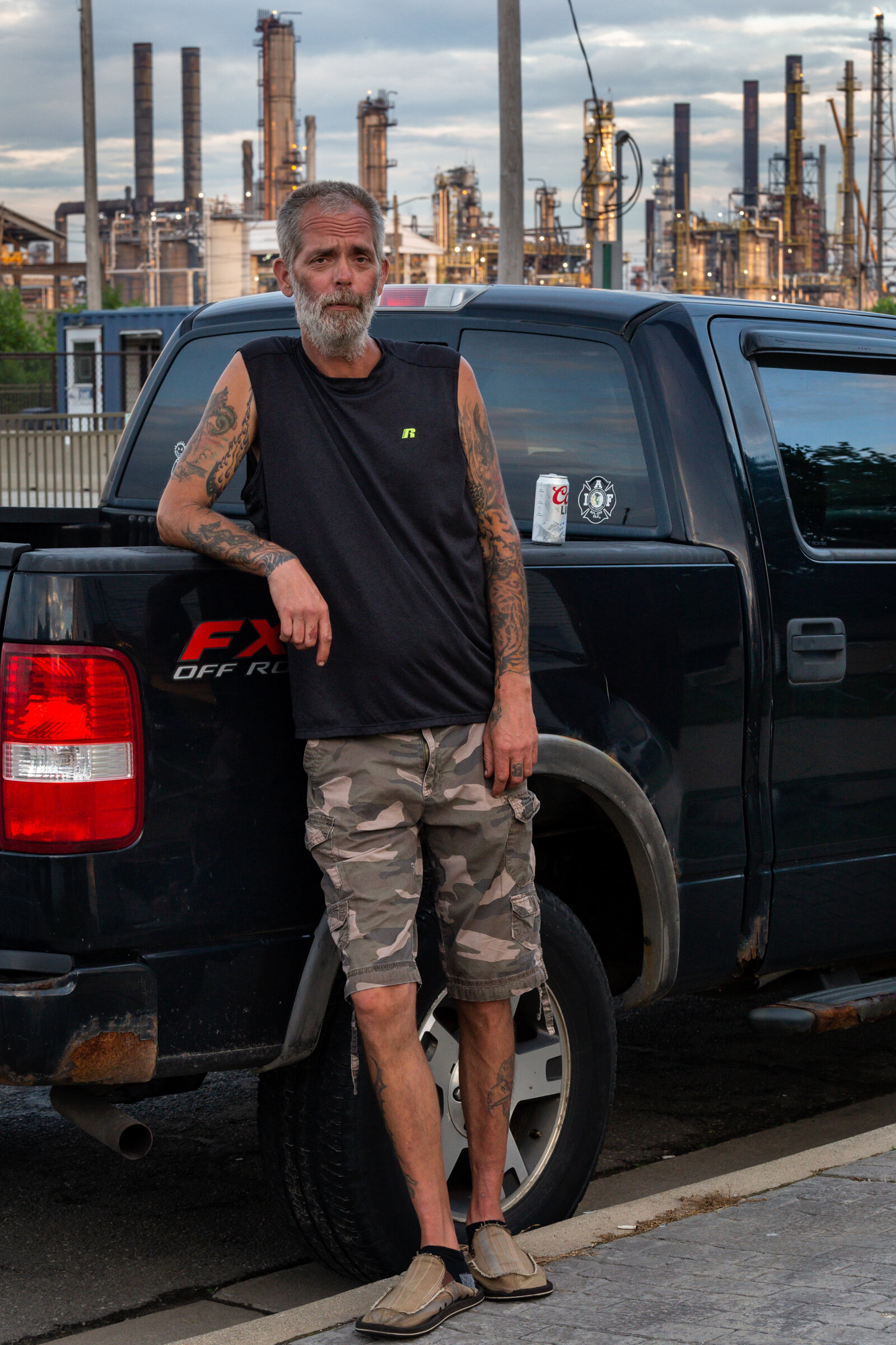 Figure 16. Resident Across the Street from the Whiting Refinery, July 2019. Photograph by Matthew Kaplan.
