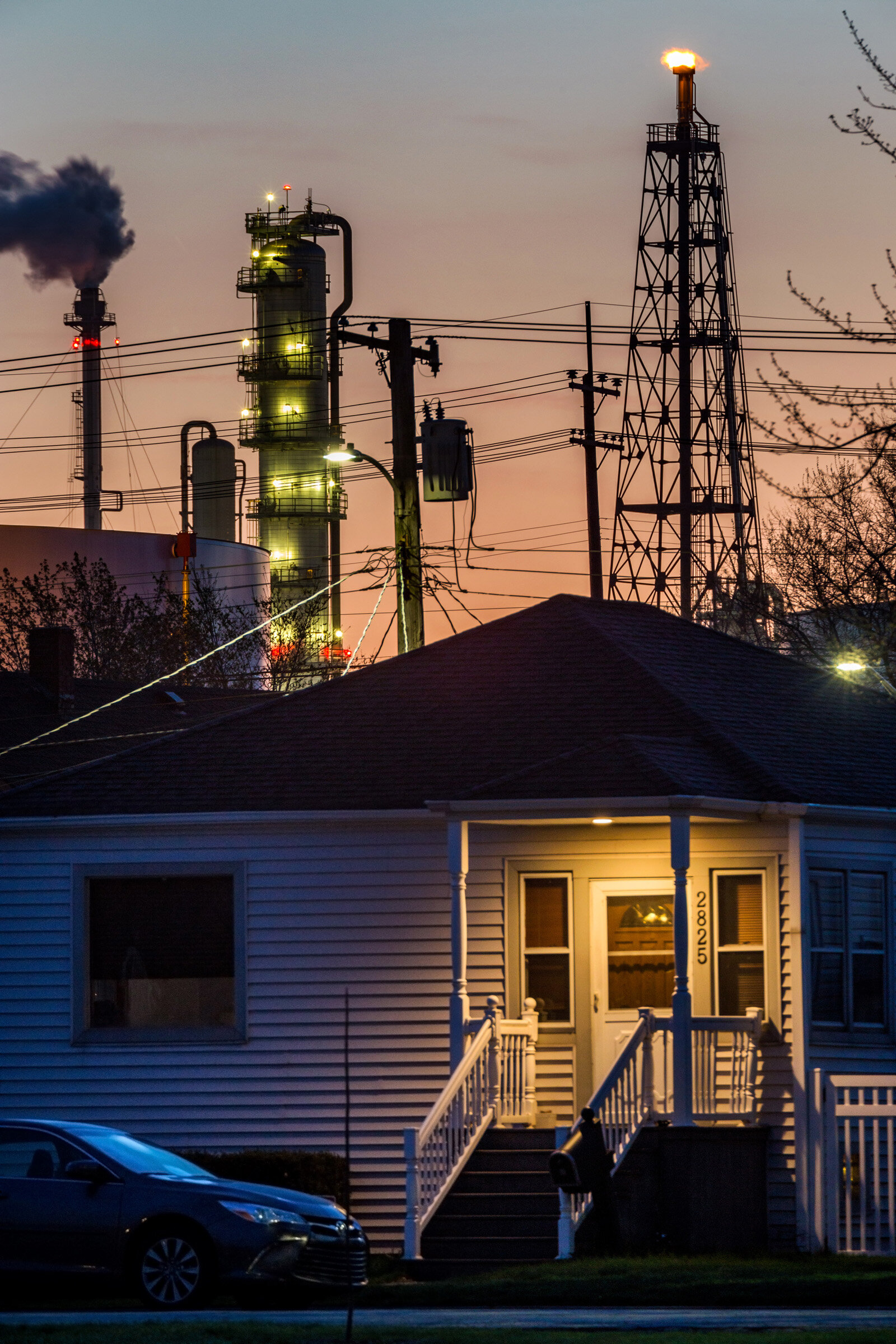 Figure 18. Whiting Refinery at Dawn, April 2019. Photograph by Matthew Kaplan.