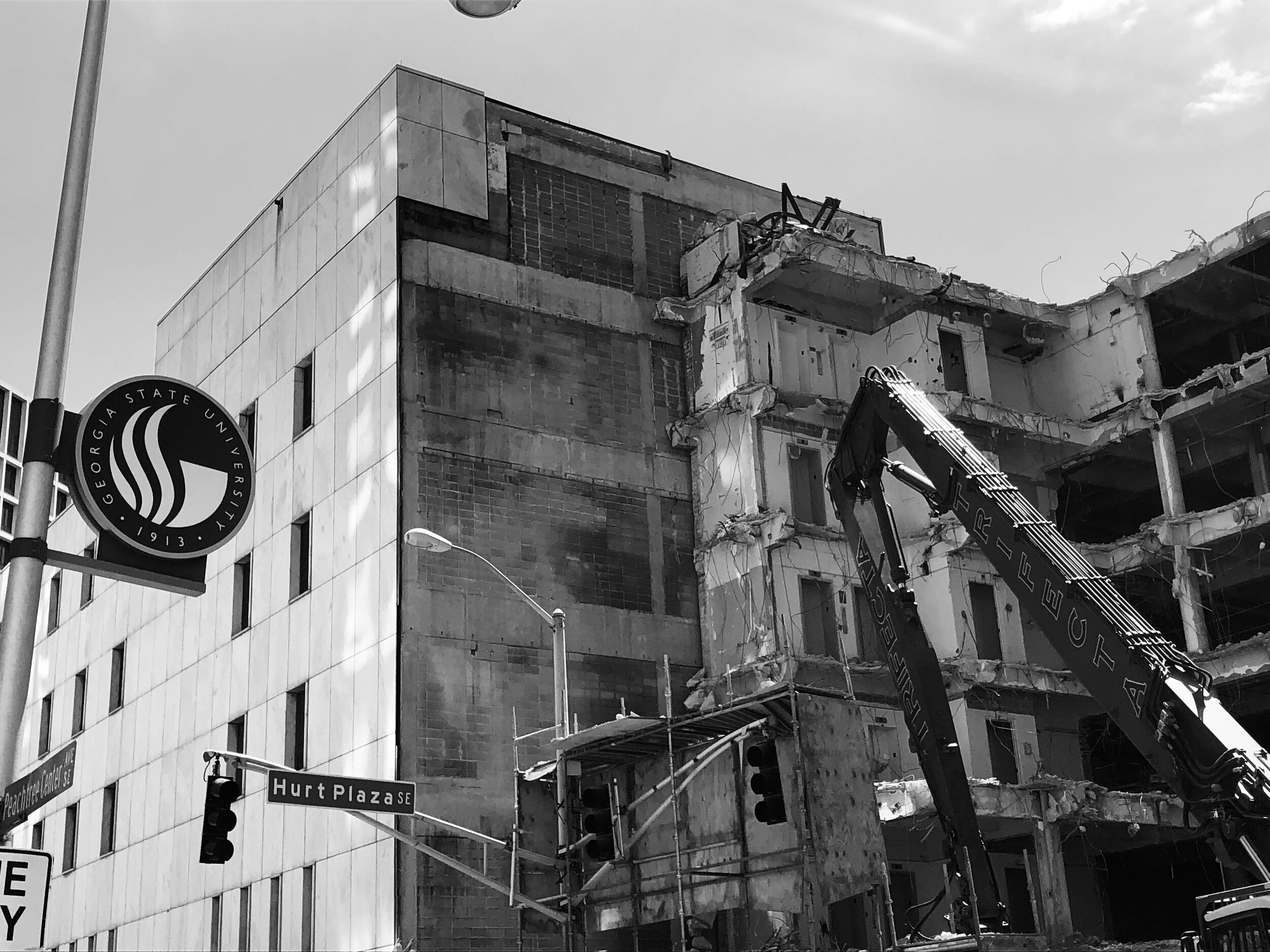 Figure 1. Demolition of Kell Hall, 2019. Photograph by Alex Sayf Cummings.