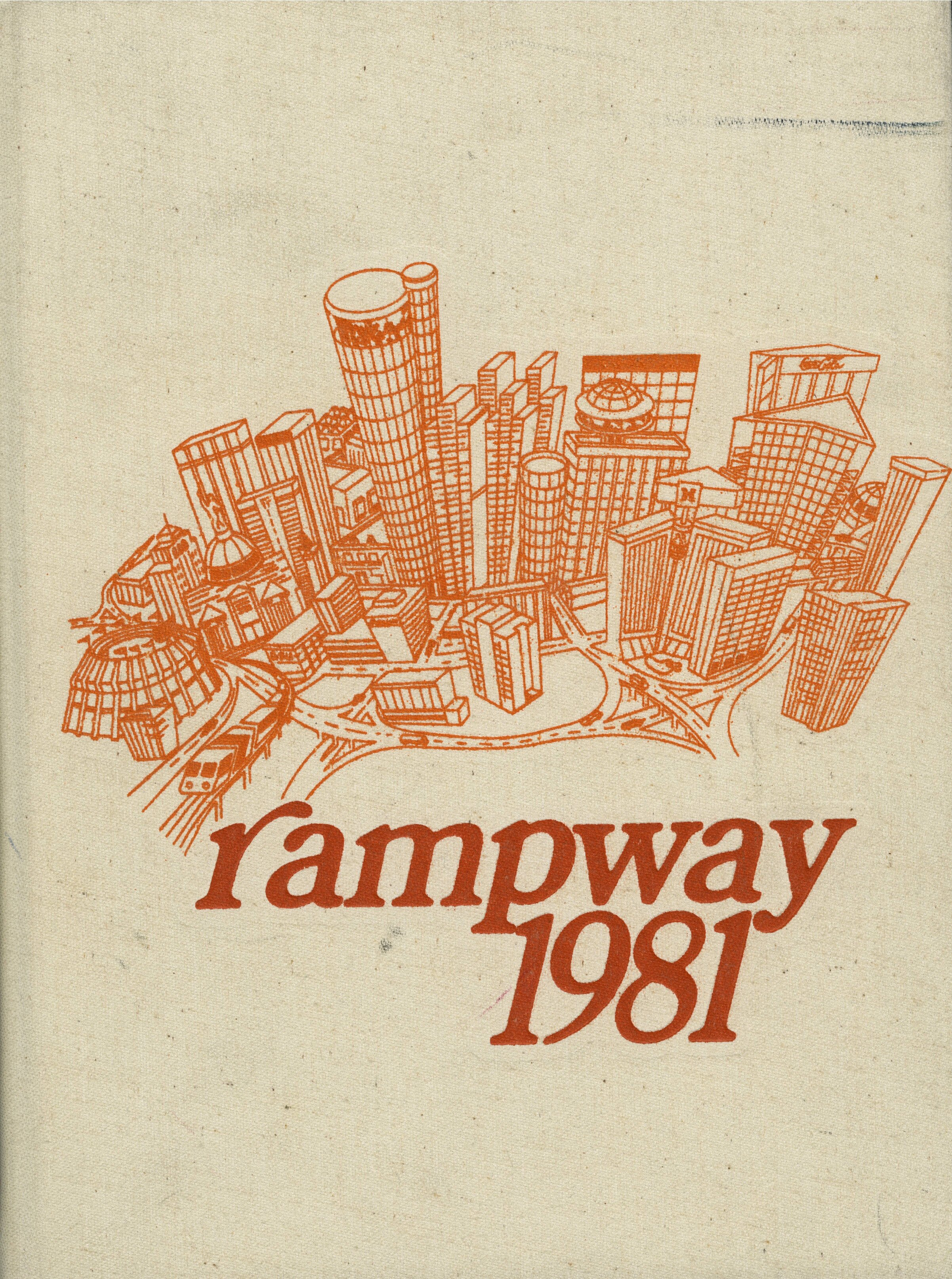Figure 6.  Rampway  student yearbook, 1981. GSUYB1981. Georgia State University Yearbooks Collection. Special Collections and Archives, Georgia State University Library.