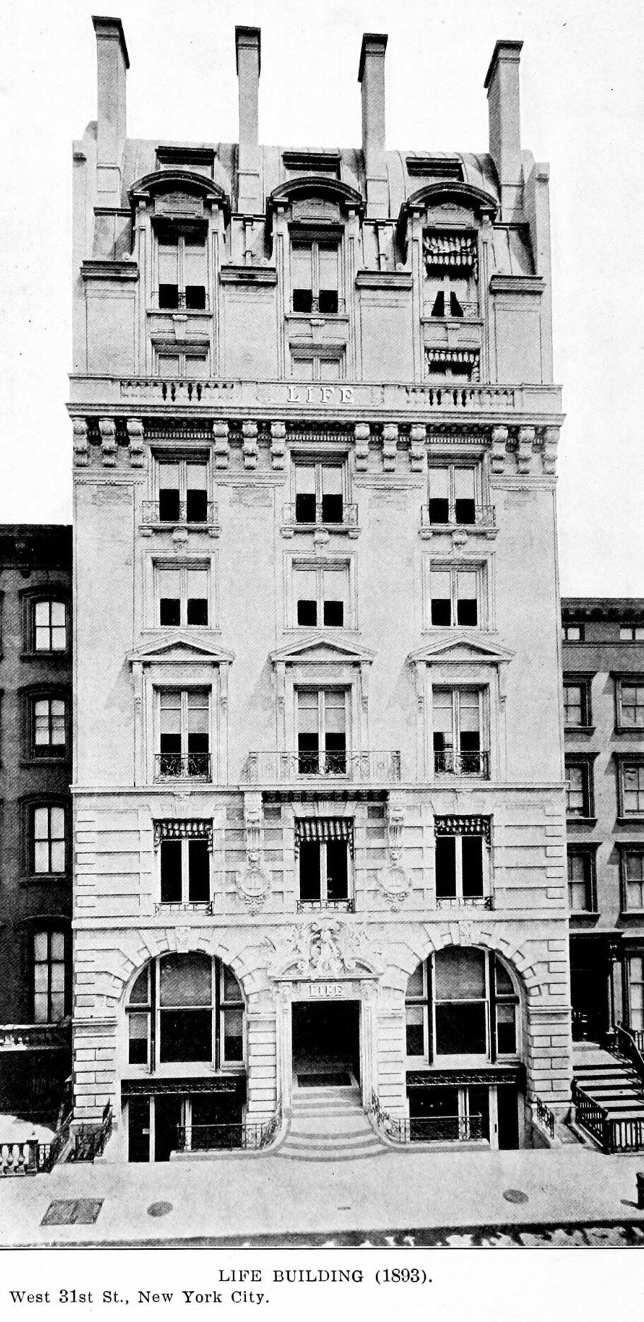 """Figure 2. Carrère and Hastings, """"The Life Building, 19 West 31st Street, New York City,""""  Architectural Record  27, no. 1 (January 1910): 32."""