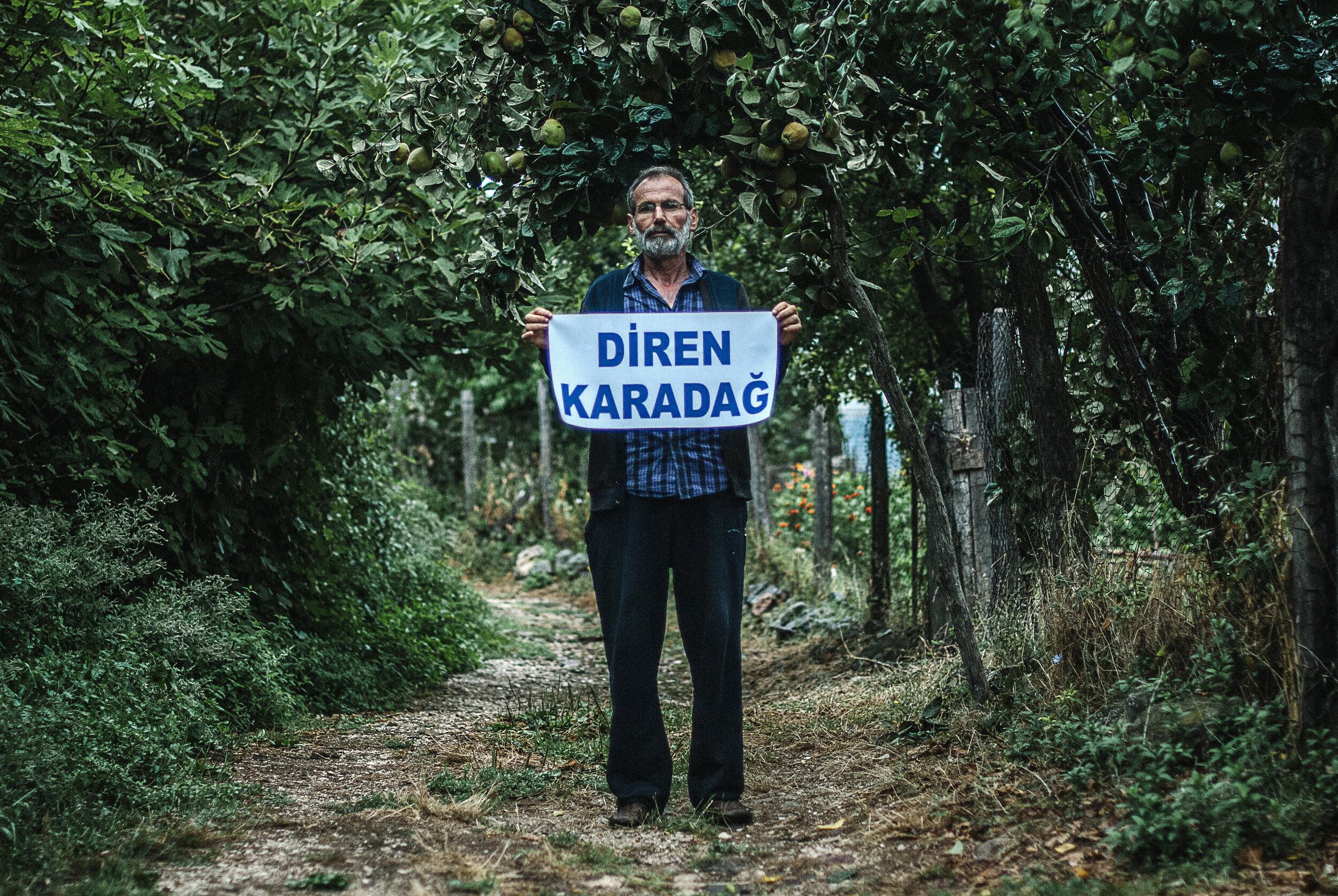 Views from protests in 2014 against Eczacıbaşı's mining activities in southwest Marmara (1/4) (courtesy of Aykan Özener)