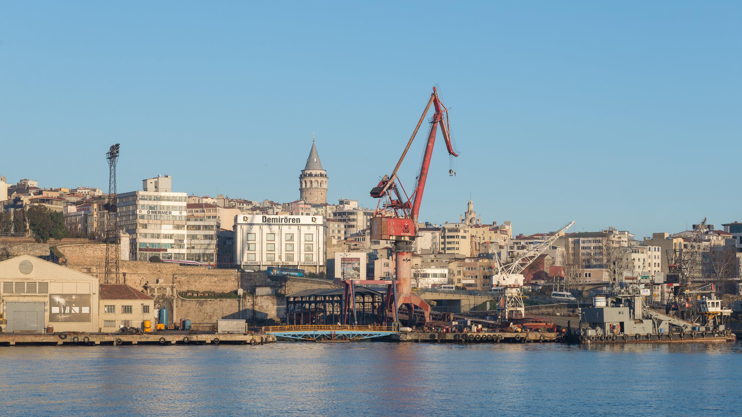 Figure 2. Haliç Shipyards as seen in March 2013. (Photograph: Arild Wågen, WikiZero)