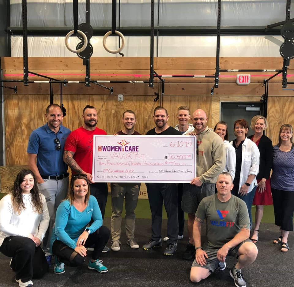 ValorFit was given a $10,300 check from the  100 Women Who Care Ankeny . We are truly grateful for  Designed 2 Move Chiropractic & Sports Rehabilitation  and their willingness to speak about and provide action to  ValorFit  on a daily basis so that we can continue to help veterans and their families live a happier and healthier life. Kindness matters.