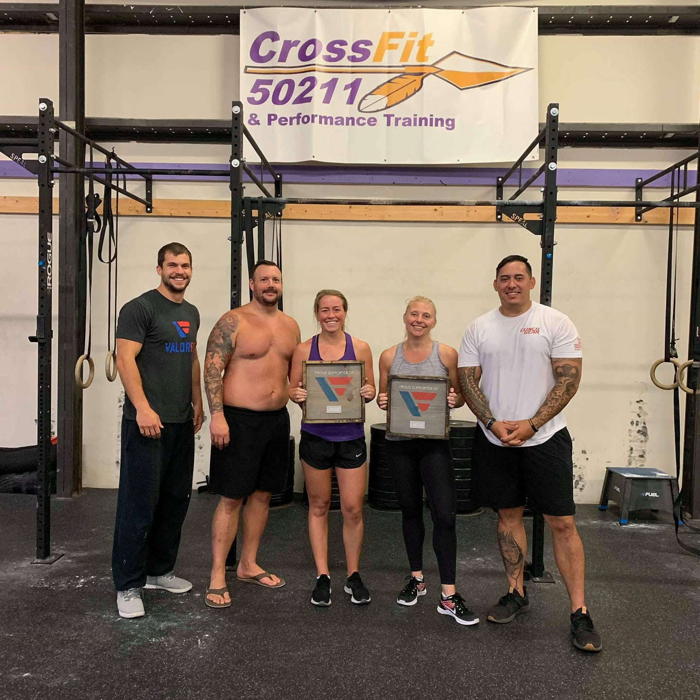 Yesterday morning we were able to say thank you to Natalie and Tracy for their donations to @ValorFit . They both extended their hand by purchasing our apparel and then offered to be donors, and for that we are grateful. They both get to see what takes place with veterans inside of CrossFit 50211, and we were able to share a little more about what takes place outside of the gym to help put veterans and their families in a better position. We are truly grateful for everyone who donates to help us with our mission. No one has to fight alone. Thank you to everyone who has supported us and continues to support us!