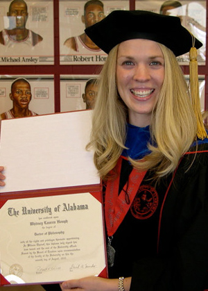 """Whitney Hough, pHd - Whitney has a PH.D. in Chemistry and an MBA from The University of Alabama. She has 5 years experience in tutoring both high school and college-level students. She works as a Graduate Assistant in AIME on The University of Alabama's campus. As an """"Entrepreneur in Residence"""", she bridges the gap between science and business. She enjoys cooking and working out in her free time."""