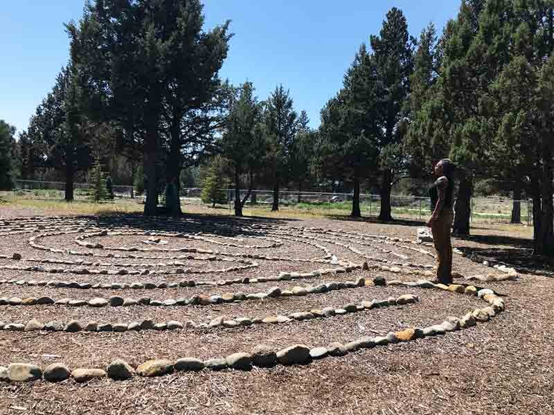 Labyrinth designed and built by Sâde Gryffin Thank you Demetra Gayle Fountaine & Noa Mohlabane for commissioning and assisting in the build of this beautiful labyrinth.