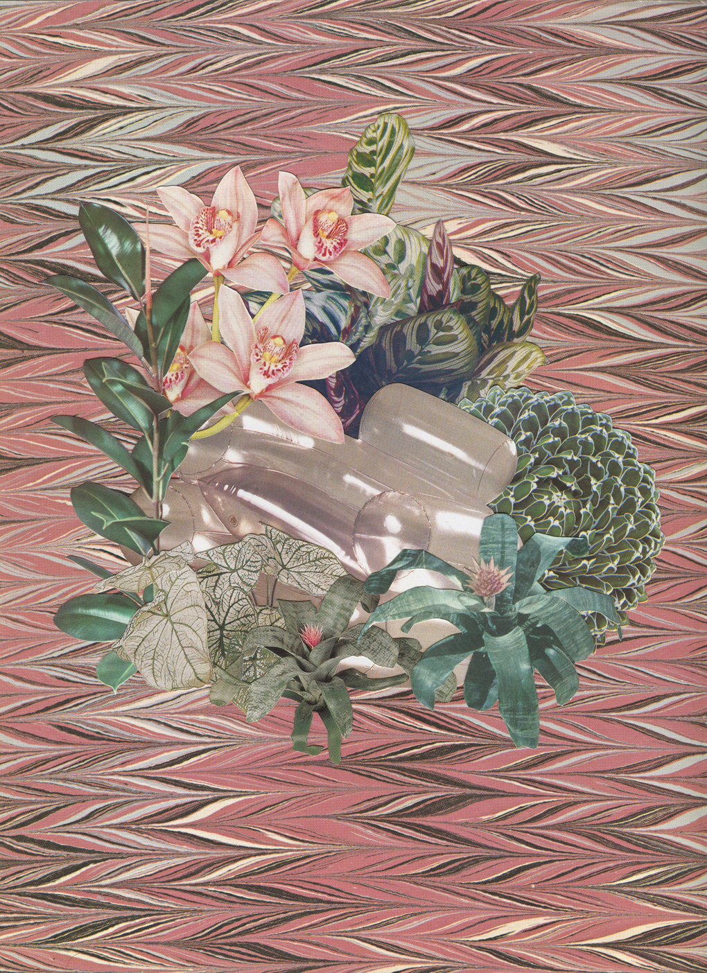 Plastic Plantasia #1, 2017, collage, found paper, 410 x 310mm