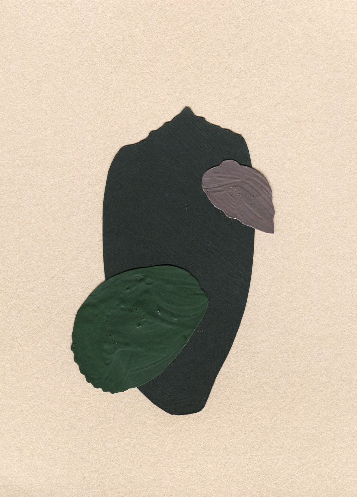 Shell Collection #5, collage, found paper, acrylic paint on Stonehenge paper, 105mm x 148mm