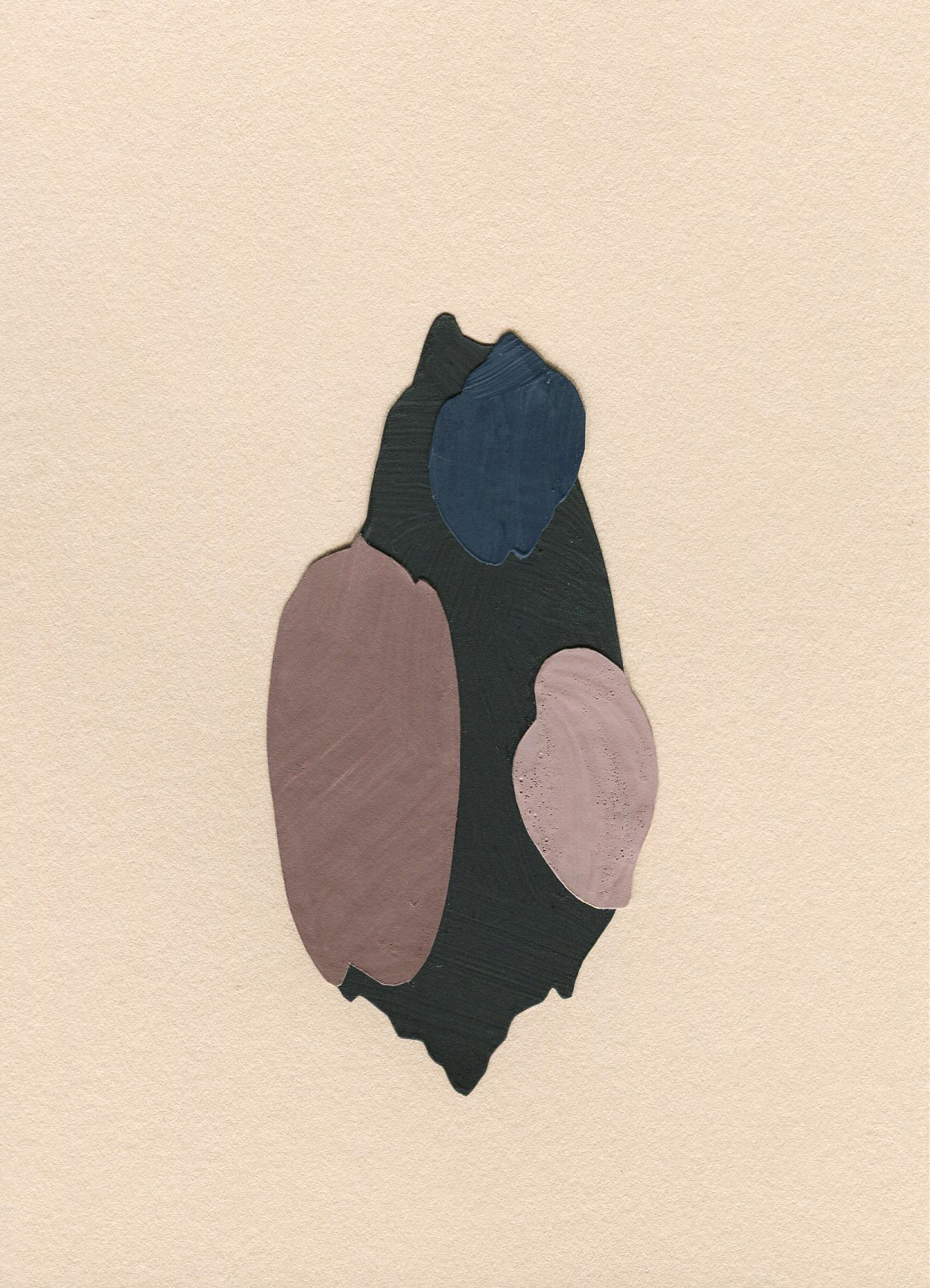 Shell Collection #6, collage, found paper, acrylic paint on Stonehenge paper, 105mm x 148mm