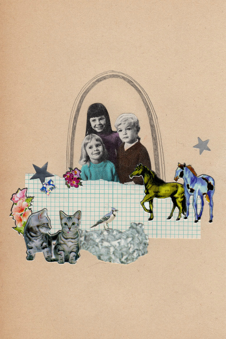 Happy Making Club, 2012, collage, found paper, stickers, pencil