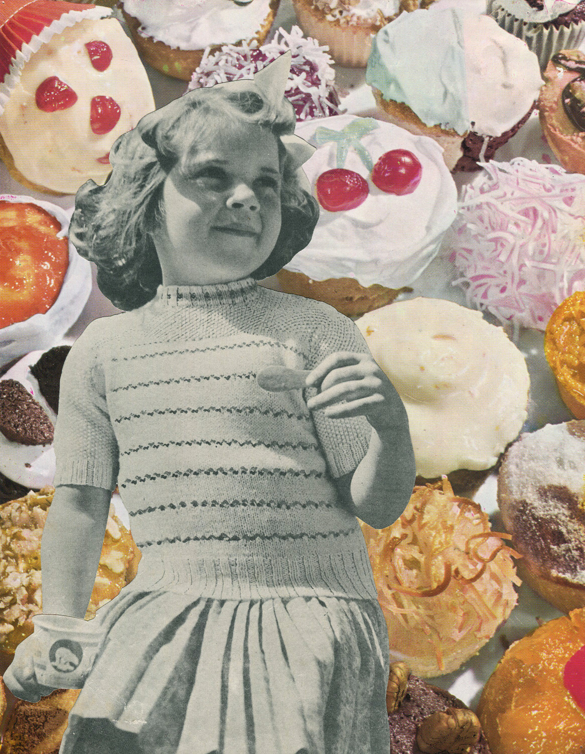 Trim With Coloured Sugar #4, 2015, collage, found paper