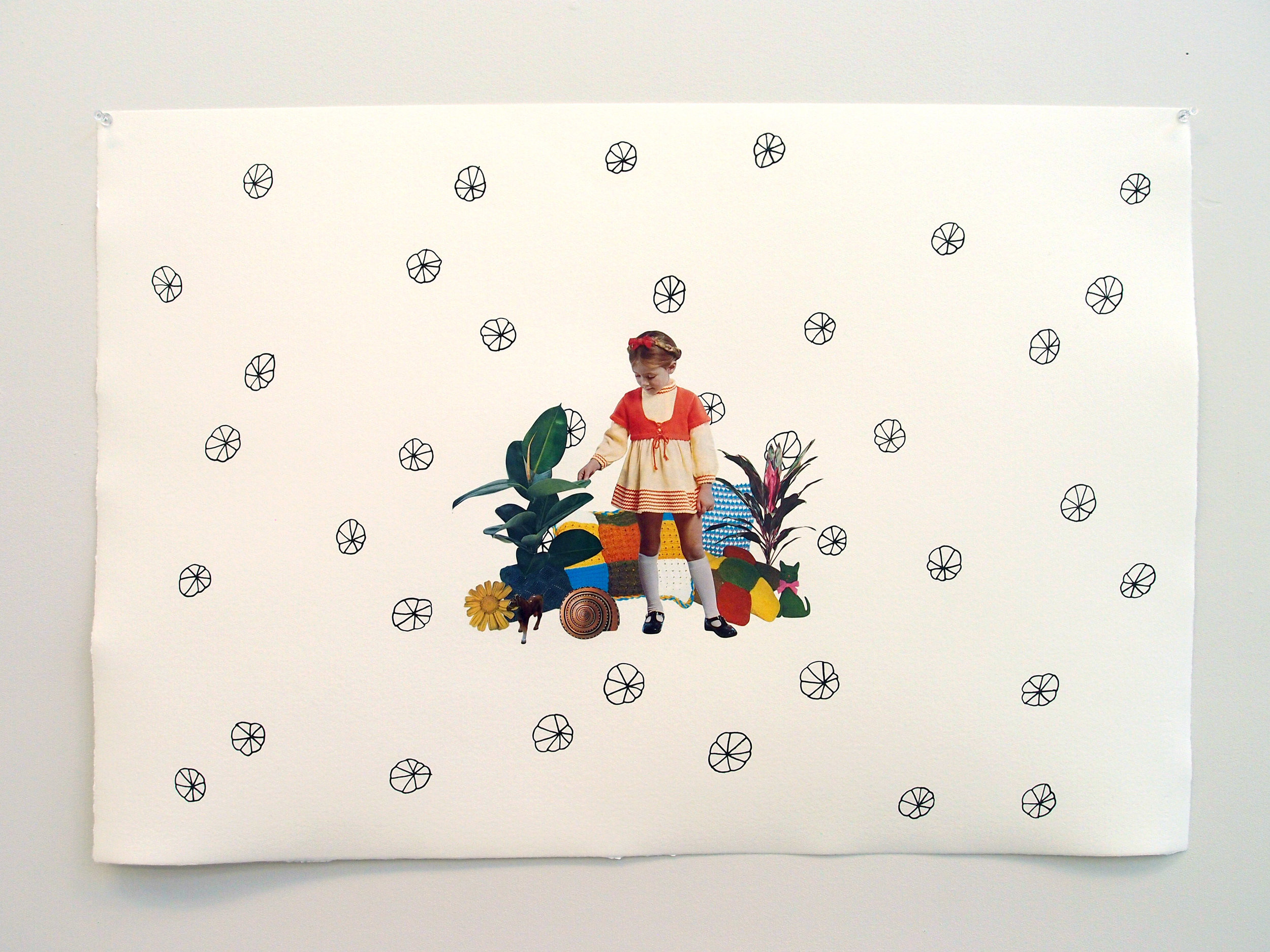 Icing Sugar Kitten Land, 2015, collage, found paper, acrylic marker on Hahnemühle paper, 530mm x 780mm