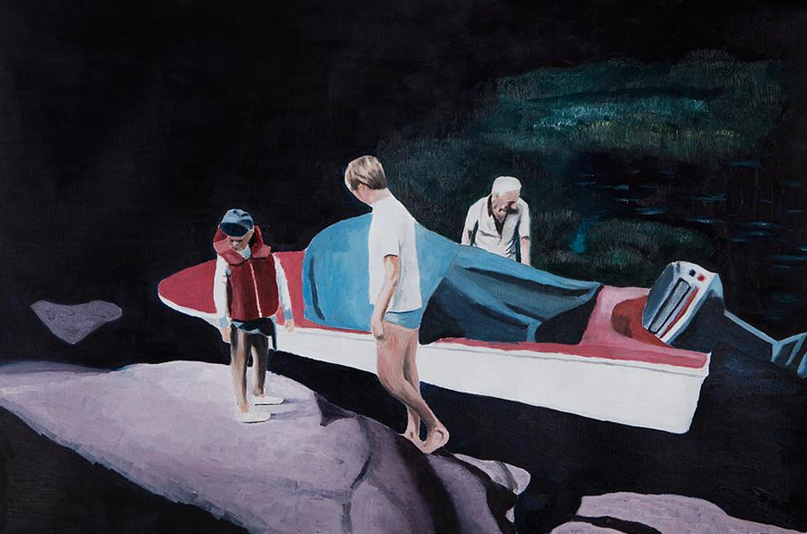 Blackwater , 2018 Oil on canvas 40 x 60 cm
