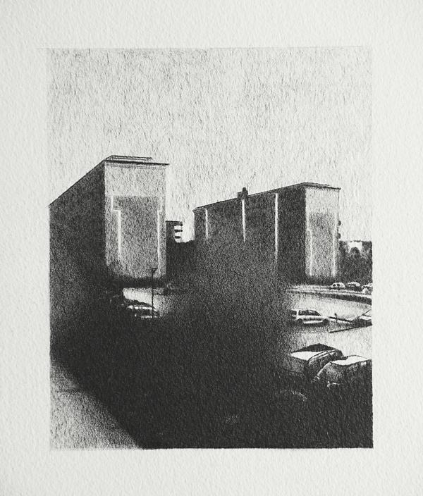 Norsborg , 2015 Pencil on paper 20 x 15 cm