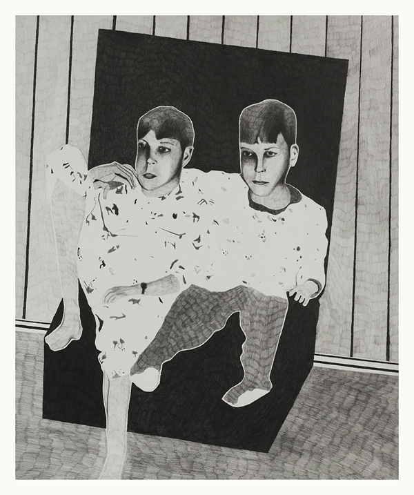 The Living Room , 2014 Pencil on paper 40 x 30 cm